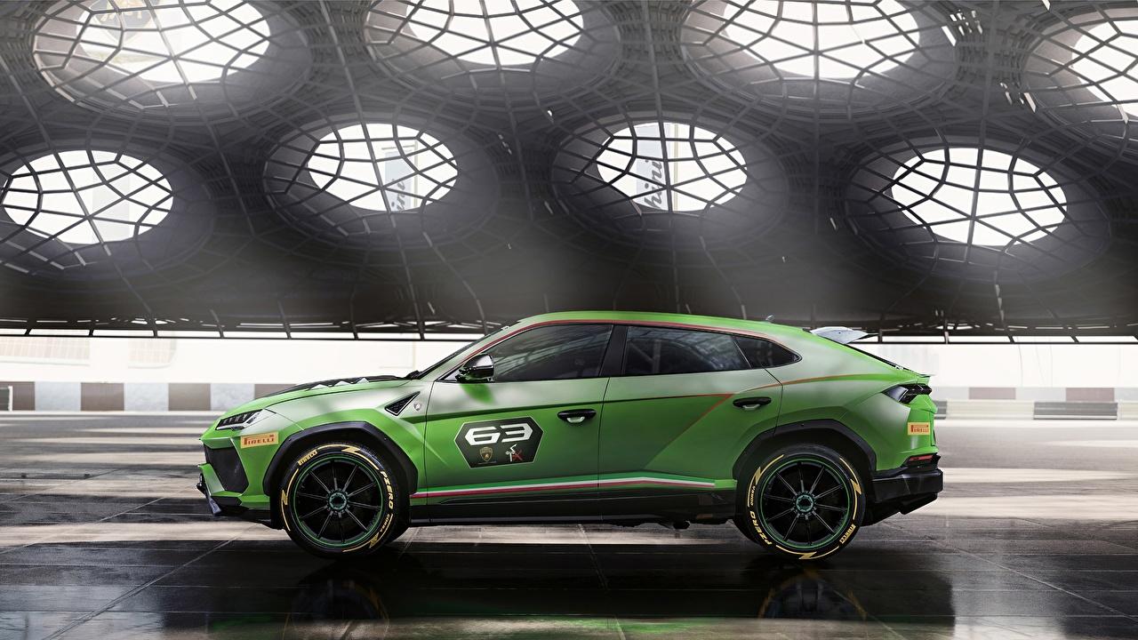 Wallpapers Lamborghini Urus 2019 ST-X Green Side automobile auto Cars