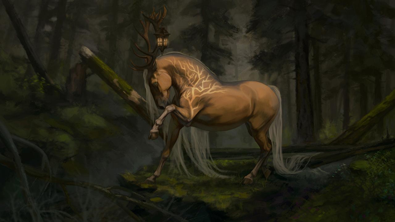 Image horse Horns Fantasy Magical animals