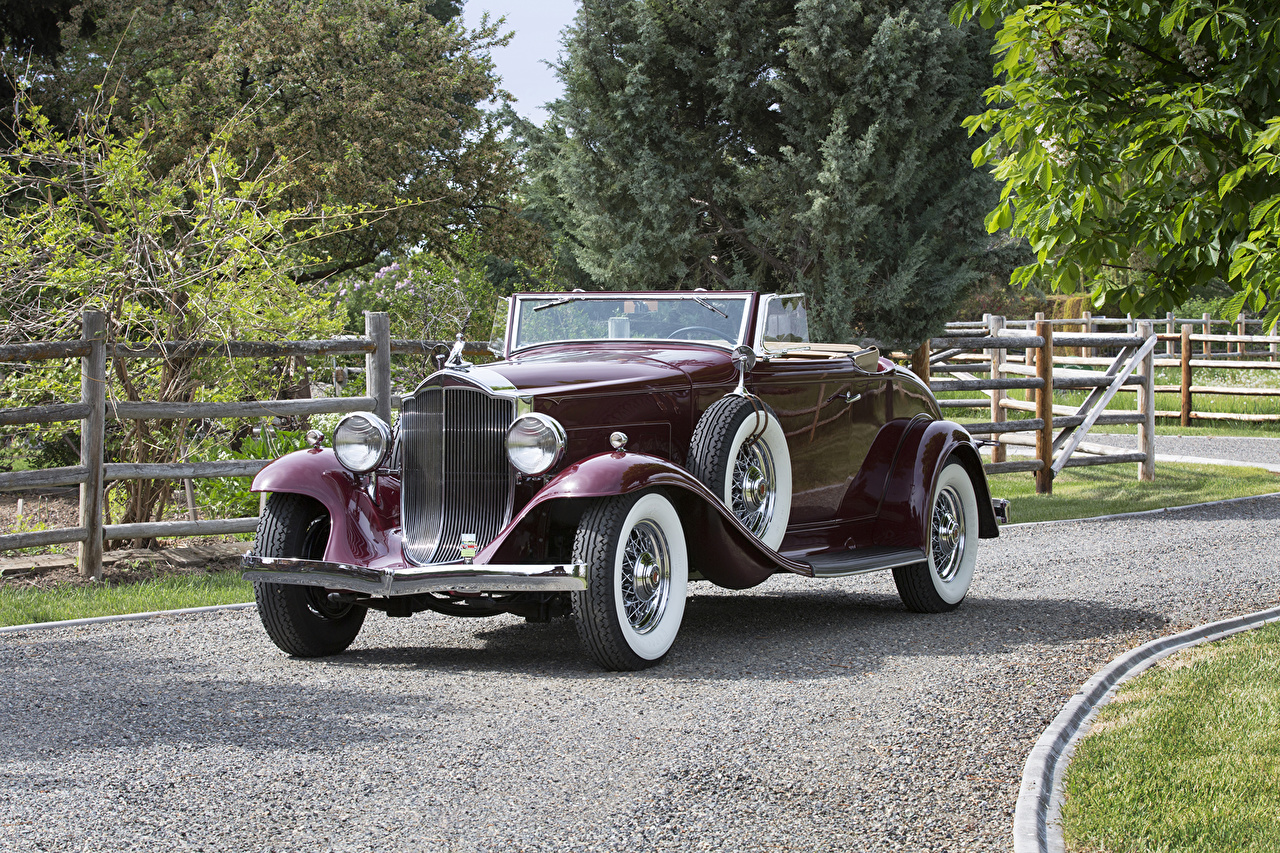 Photos 1932 Packard Light Eight Coupe Roadster Cabriolet vintage Cars Metallic Convertible Retro antique auto automobile