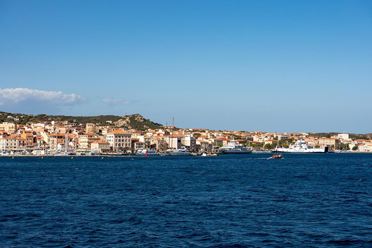 Mer Côte Navire Bateaux Italie La Maddalena, Olbia-Tempio, Sardinia navires, Bateau à moteur Villes
