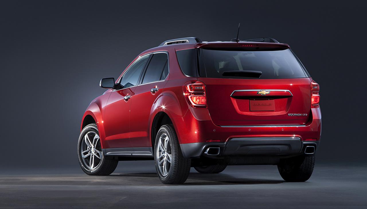 Wallpaper Chevrolet 2016 Equinox maroon Cars Metallic Back view dark red burgundy Wine color auto automobile