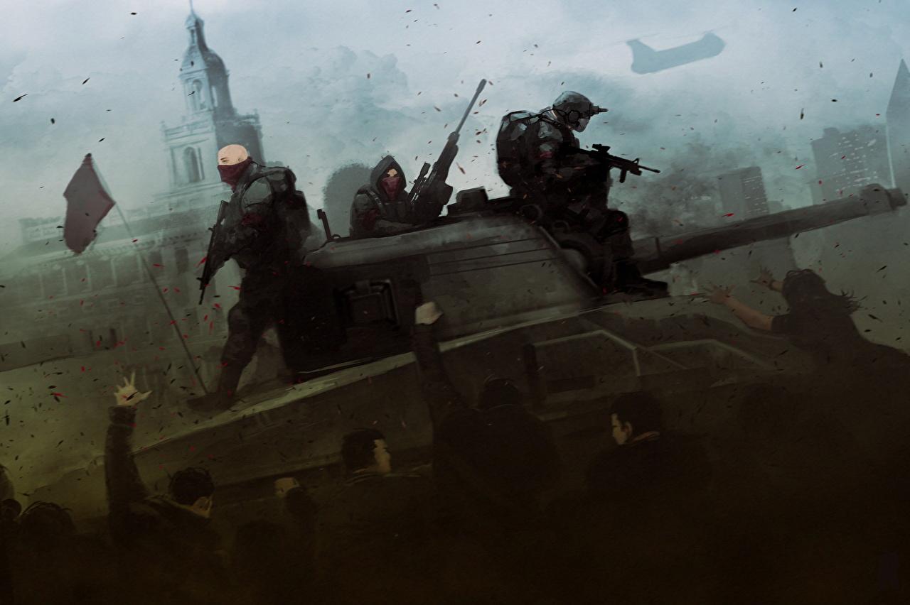 Fotos Homefront Panzer Mann The Revolution Spiele