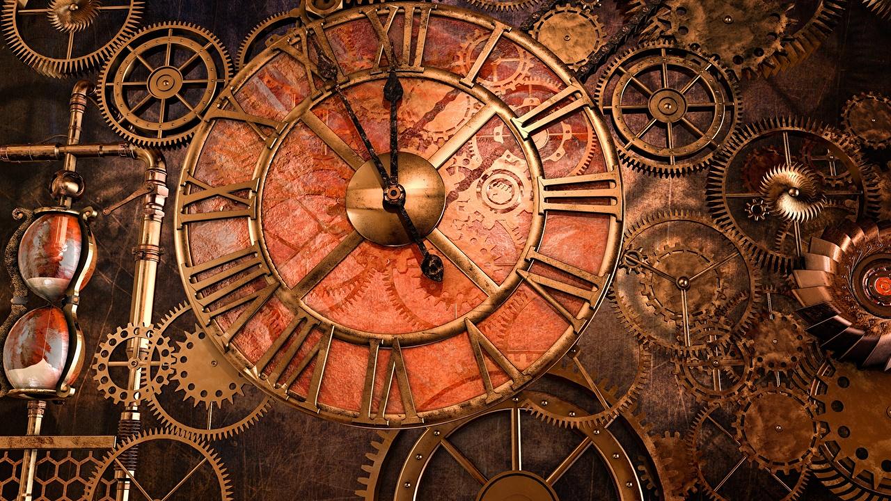 壁紙 スチームパンク 時計 時計の文字盤 歯車 ダウンロード 写真
