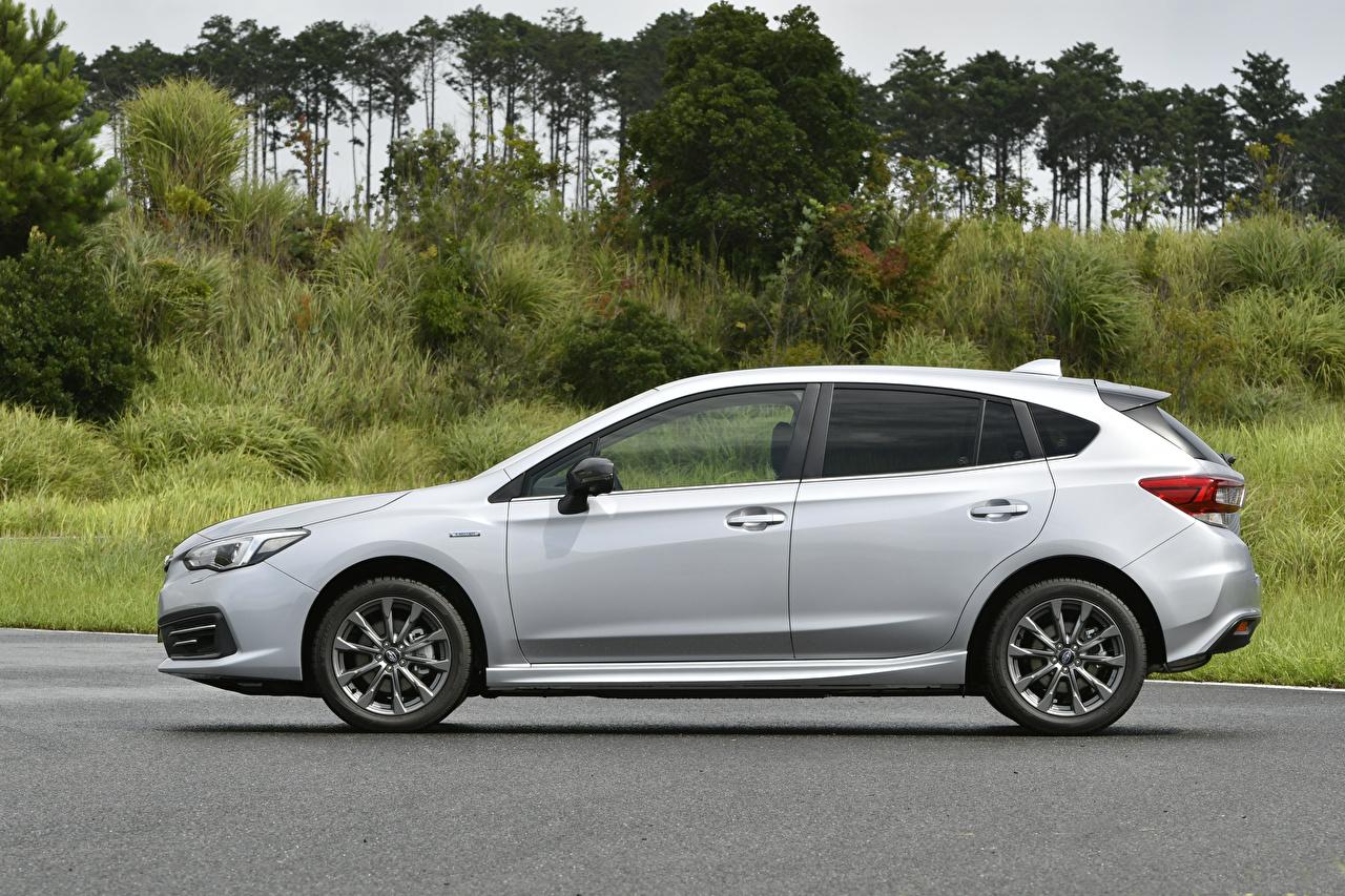 Photo Subaru Impreza Sport e-Boxer, JP-spec, 2020 Silver color auto Side Metallic Cars automobile