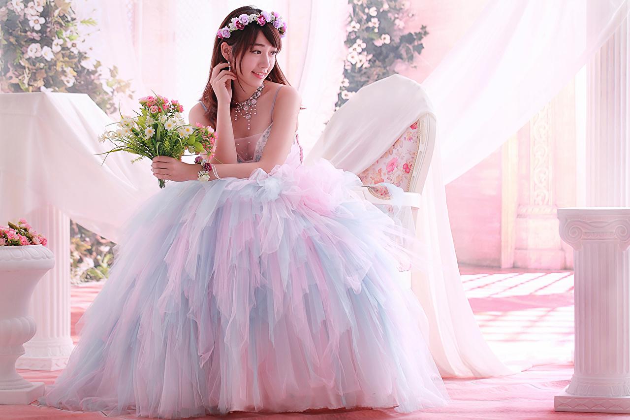 壁紙 アジア人 ドレス 結婚式 花嫁 少女 ダウンロード 写真