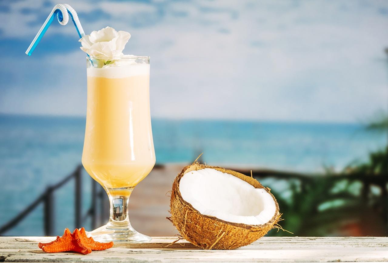 Wallpaper Pina Colada Coconuts Food Stemware Mixed drink Cocktail