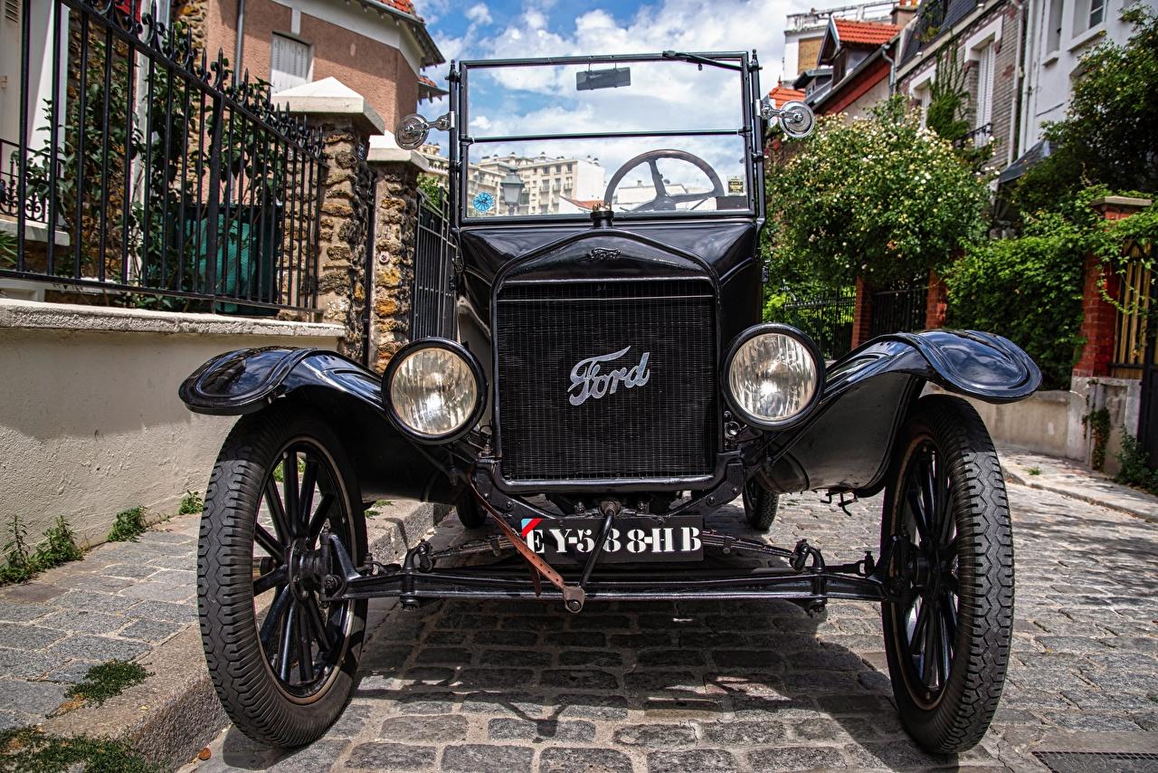 Rétro style Ford Model T Devant Noir Phare automobile Roue voiture, automobile, ancien, roues Voitures