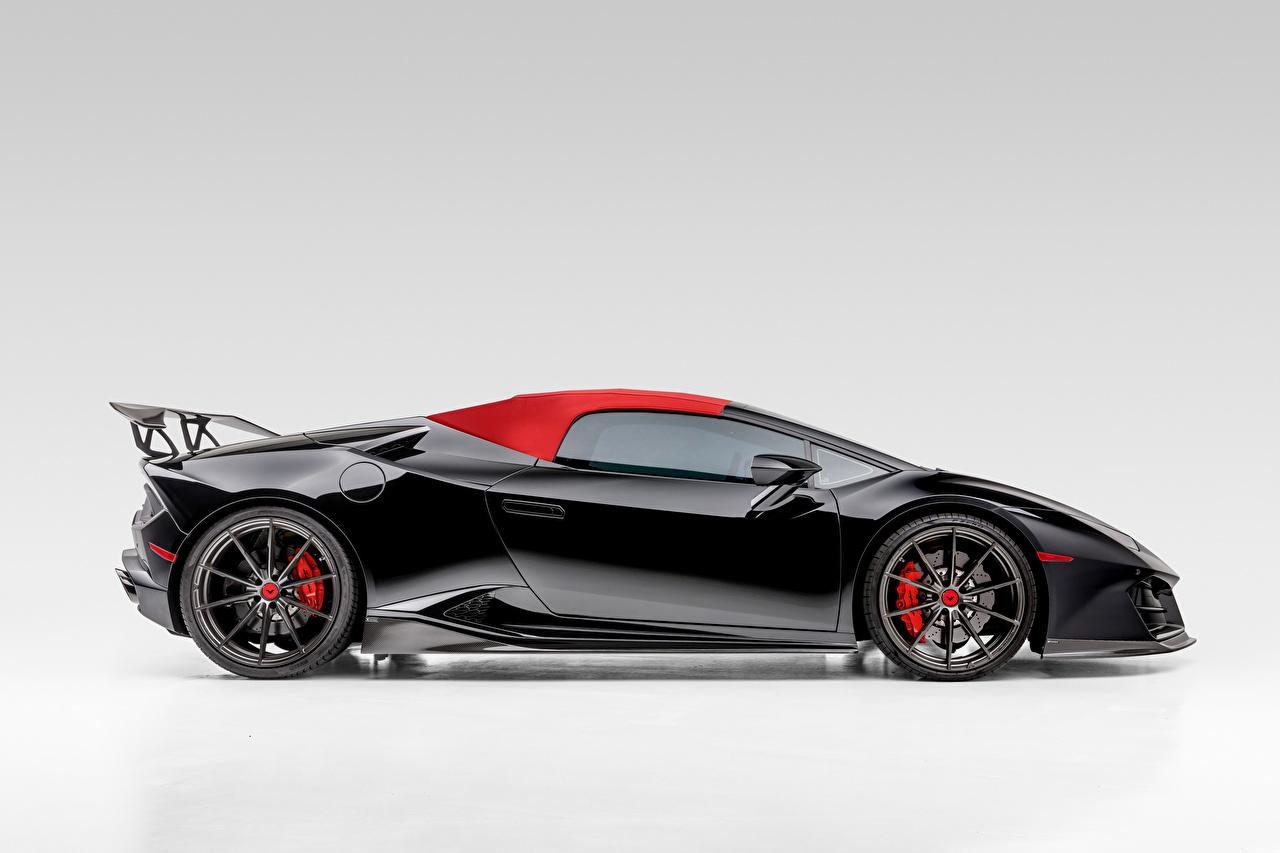 Images Lamborghini Huracan Spyder Mondiale-2 Edizione, 2020 Roadster Black Side Metallic automobile auto Cars
