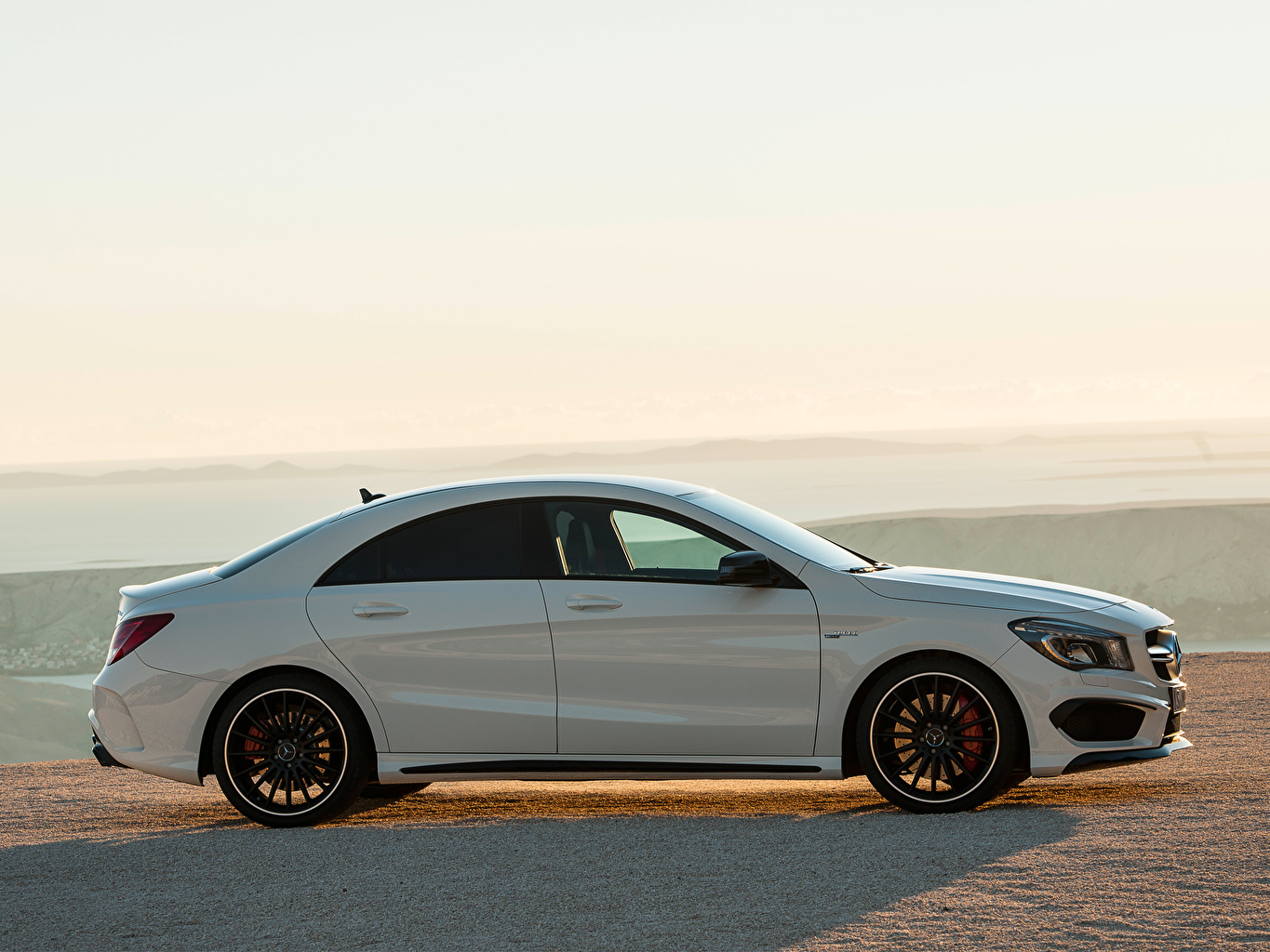 Photos Mercedes-Benz CLA 45 AMG White Side Cars auto automobile