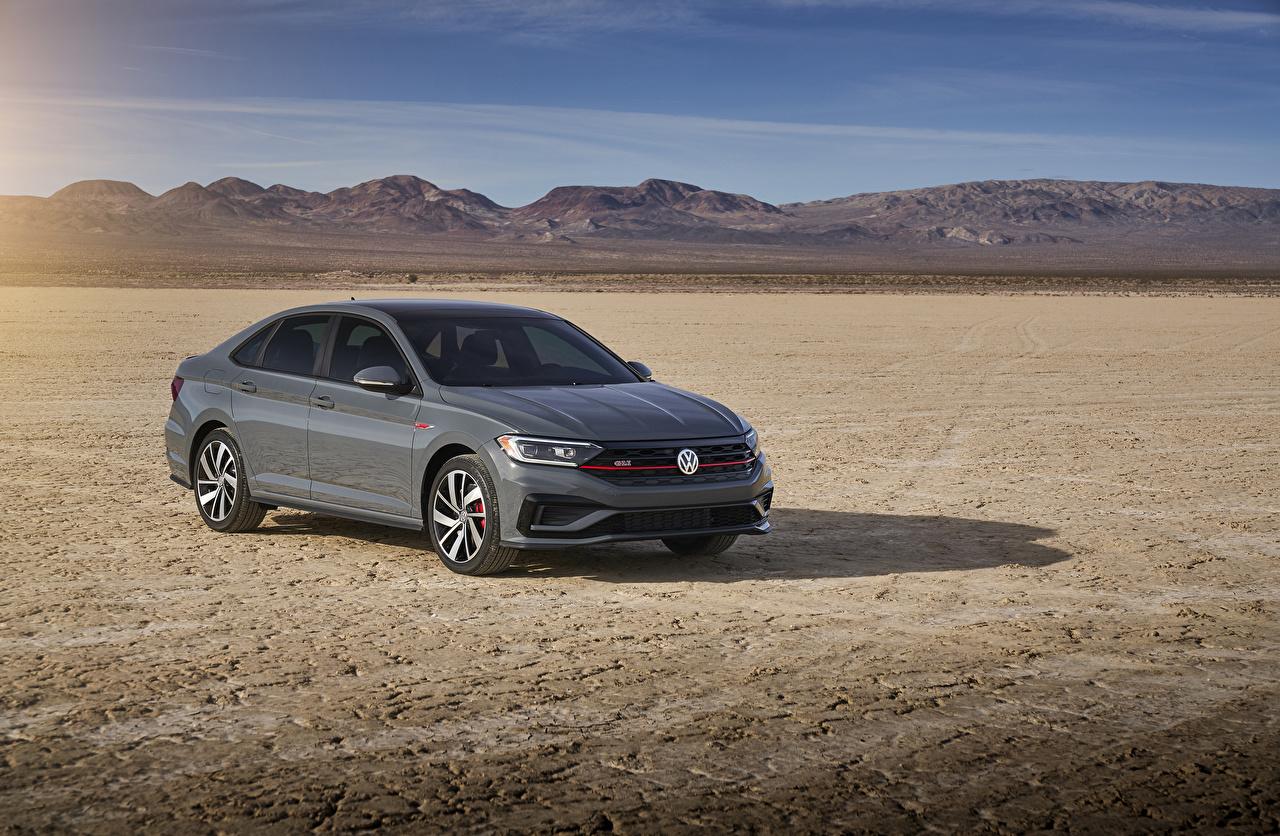 Wallpaper Volkswagen 2019 Jetta GLI gray Cars Grey auto automobile