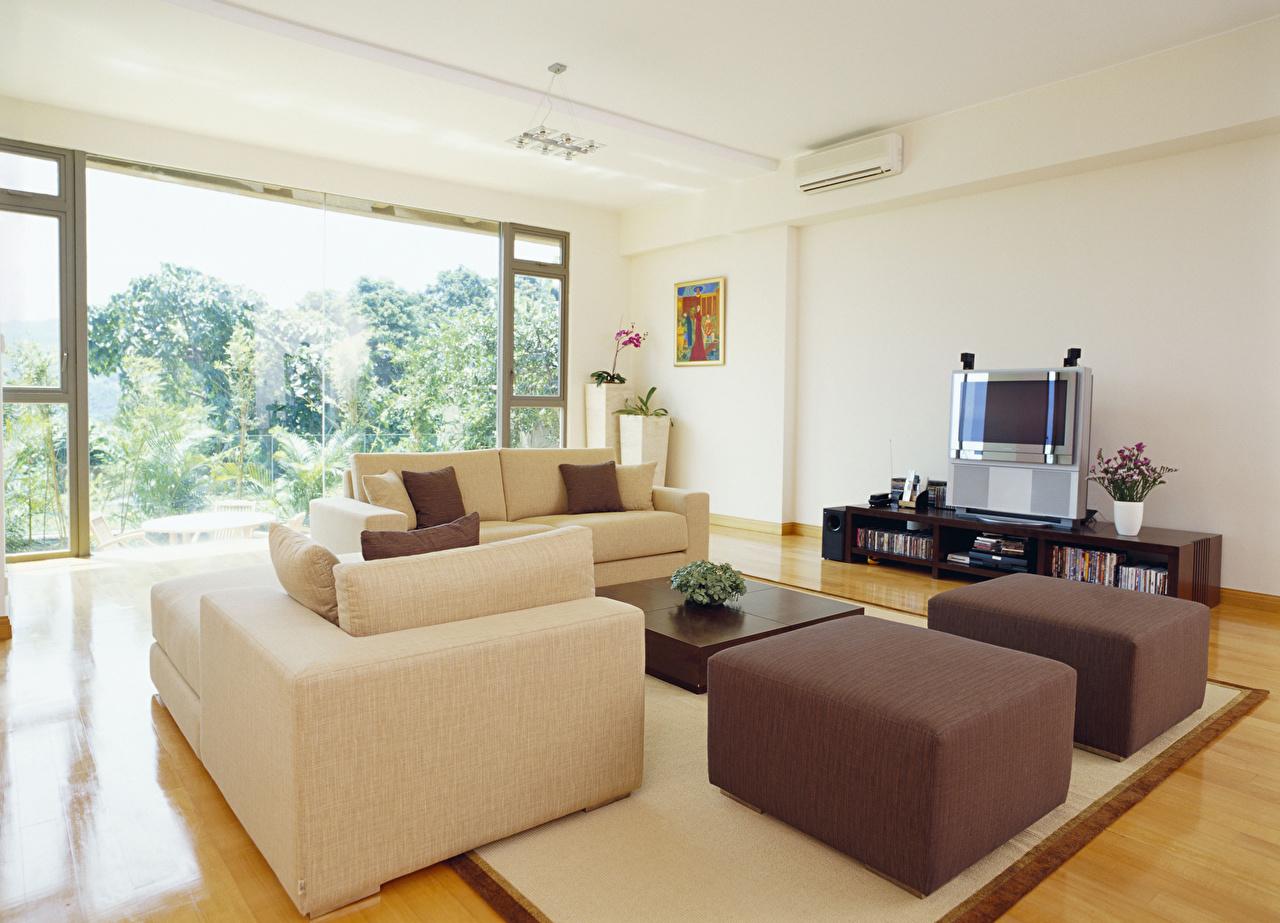 Foto Wohnzimmer Innenarchitektur Sofa Design Couch