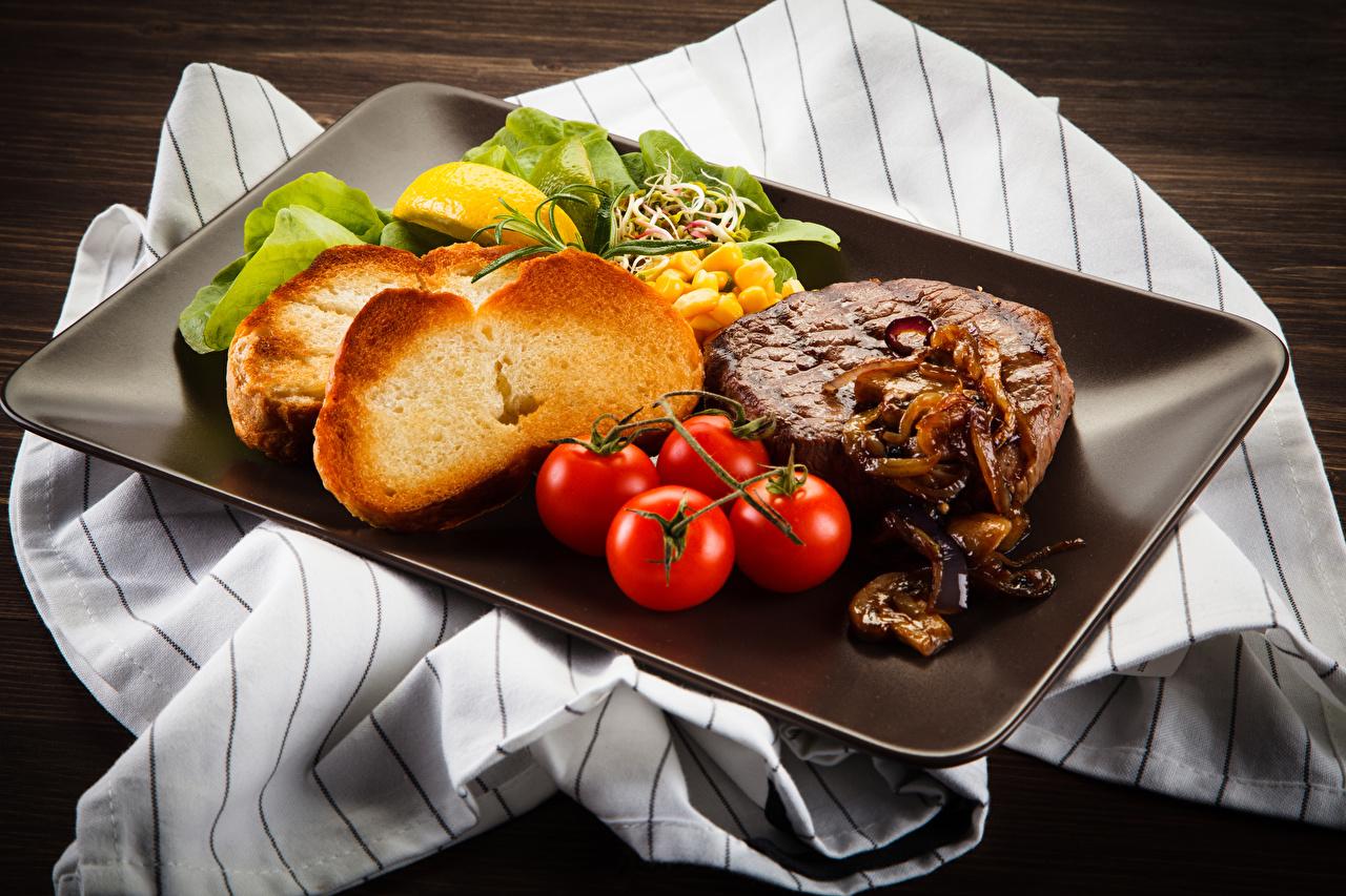 Foto Tomate Brot Lebensmittel Fleischwaren