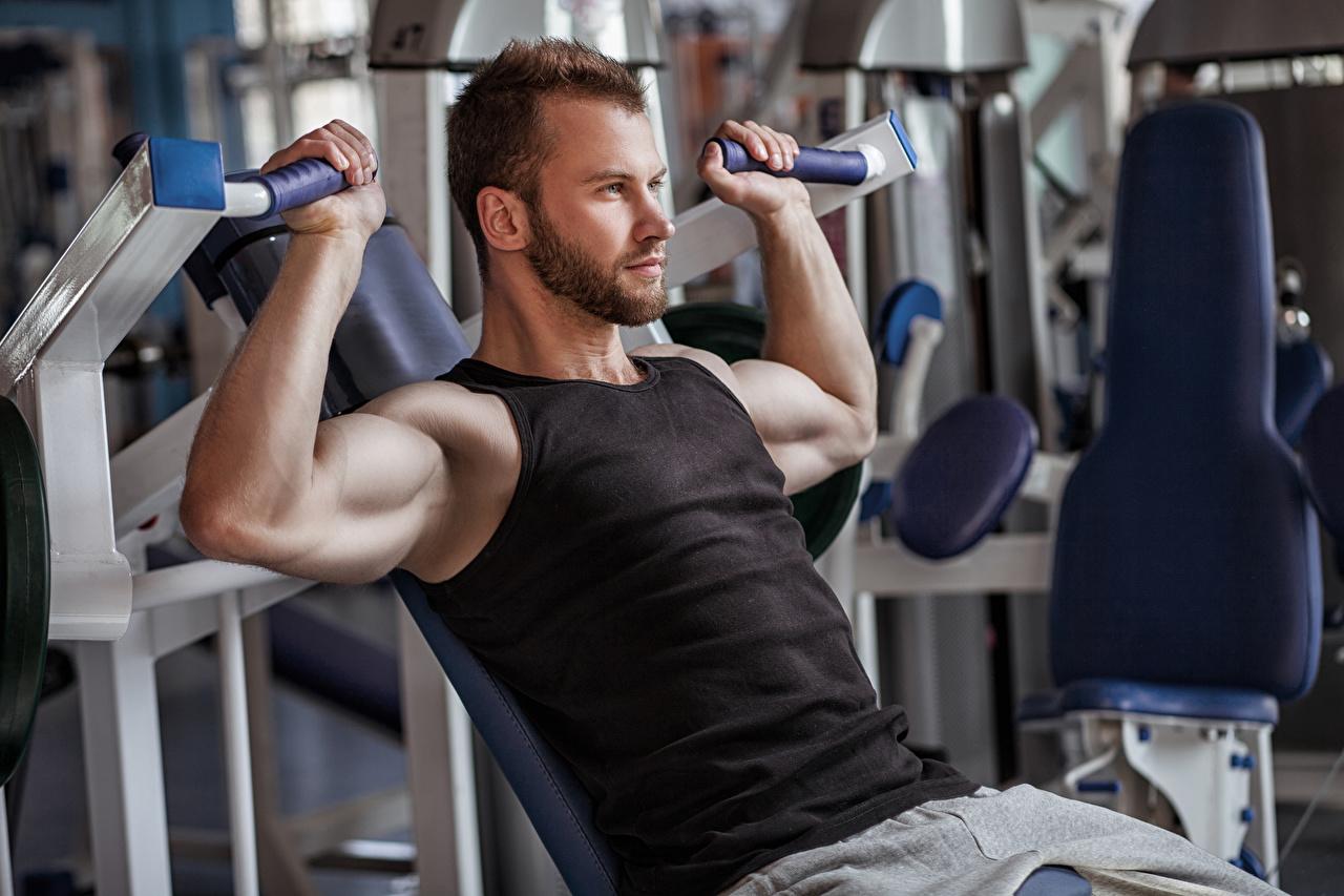 Wallpapers Man Muscle Fitness Sport Sleeveless shirt Hands Men Singlet