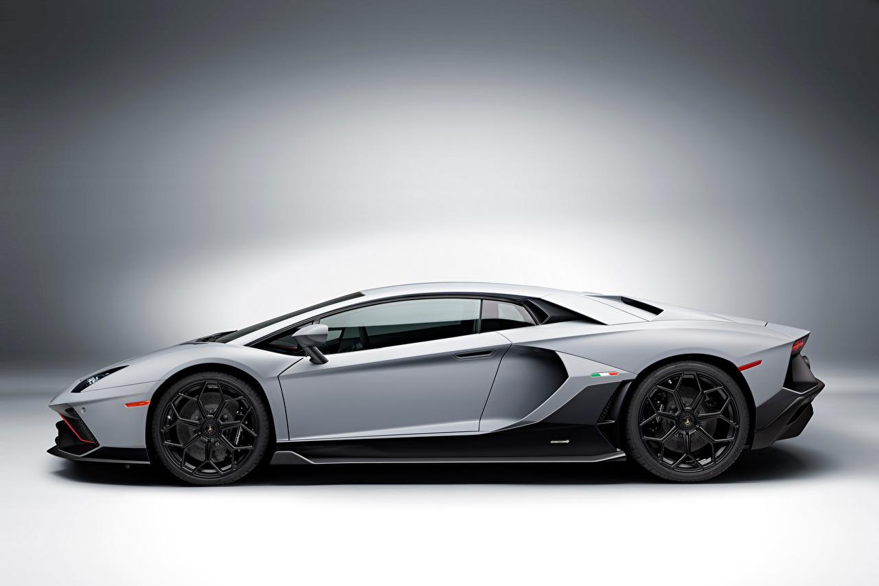,藍寶堅尼,Aventador LP 780-4 Ultimae, (LB834), 2021,灰色,側視圖,汽车,