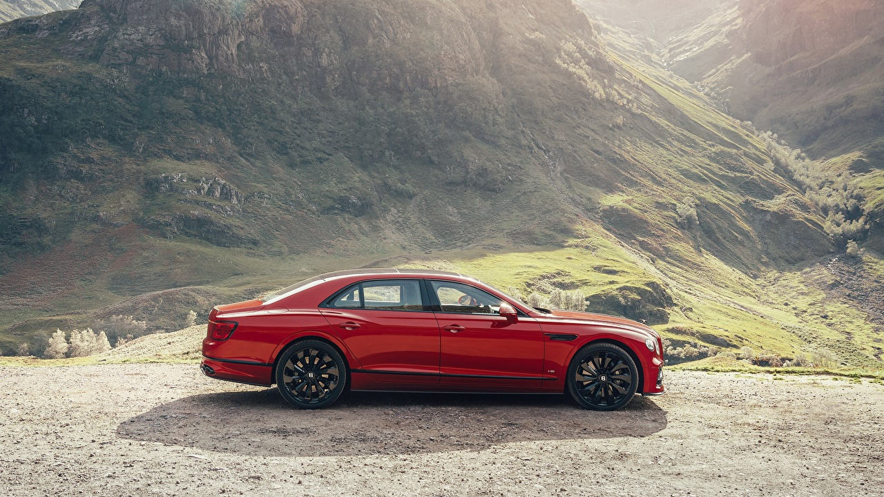 Image Bentley Twin Turbo, Flying Spur 2021 Red Side Cars auto automobile