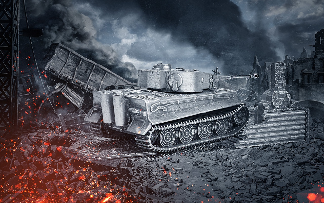 Fondos De Pantalla World Of Tanks Tanque Tiger Model Juegos