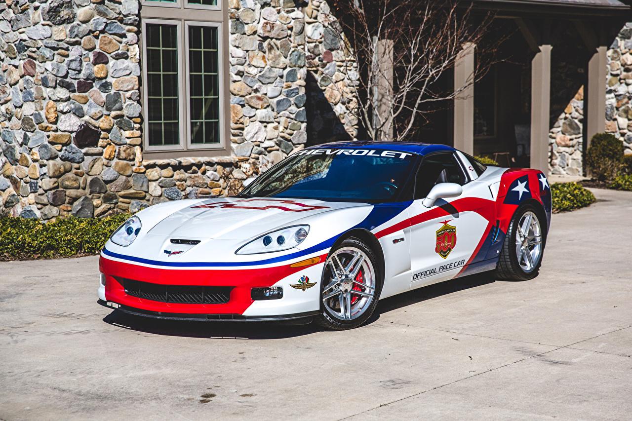 Pictures Tuning Chevrolet 2006 Corvette Z06 Indianapolis 500 Pace Car White Cars auto automobile