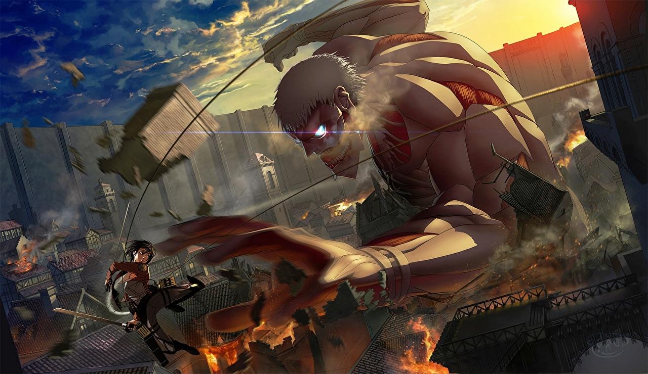 壁紙 進撃の巨人 ウォリアーズ Mikasa Ackerman アニメ ダウンロード 写真