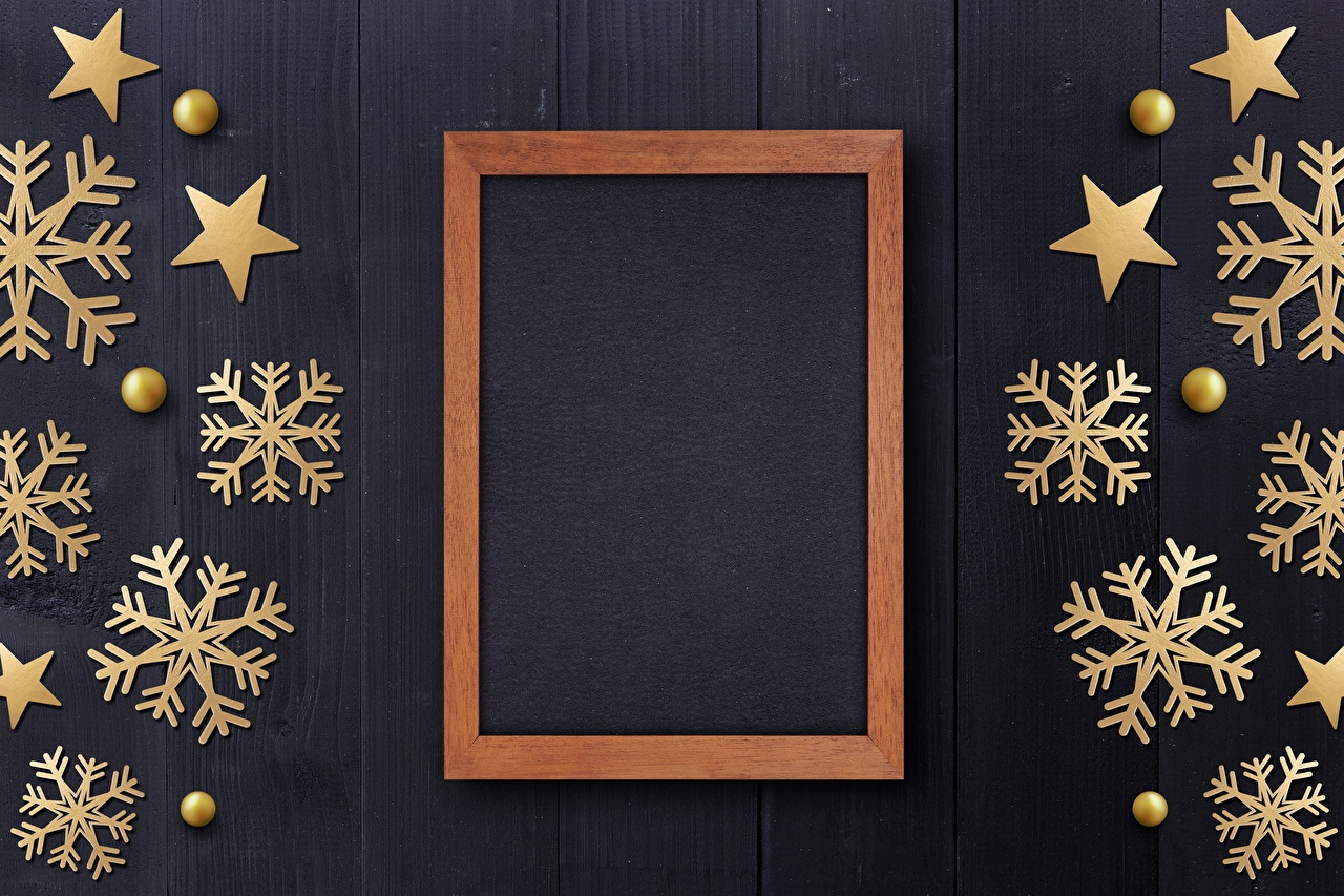 Photos Christmas Snowflakes Template greeting card New year