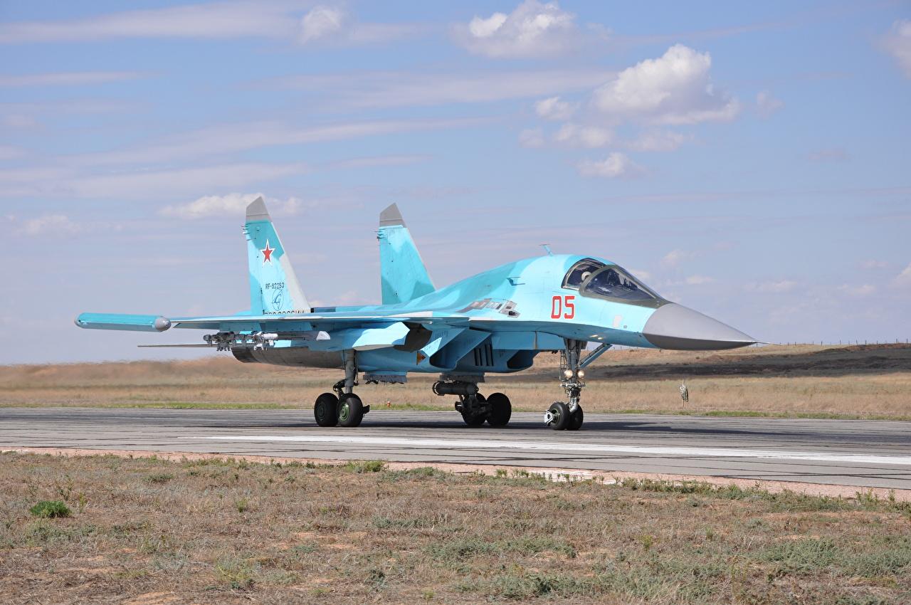 Foto Suchoi Su-34 Jagdflugzeug Flugzeuge Russische Luftfahrt russisches russischer