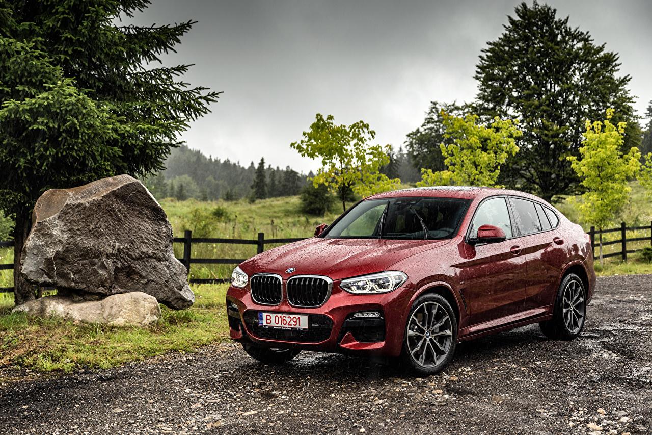 Images BMW 2018 X4 xDrive25d M Sport Worldwide dark red Rain Metallic automobile maroon burgundy Wine color auto Cars