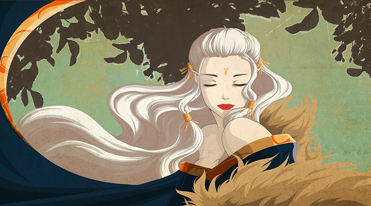 Fotos Elfen Blond Mädchen Haar Fantasy Mädchens Vektorgrafik Blondine