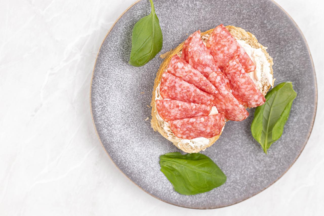Butterbrot Salsicha Pão Prato comida Alimentos