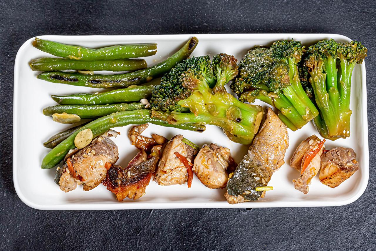 Image Asparagus Broccoli Fish - Food Food Vegetables