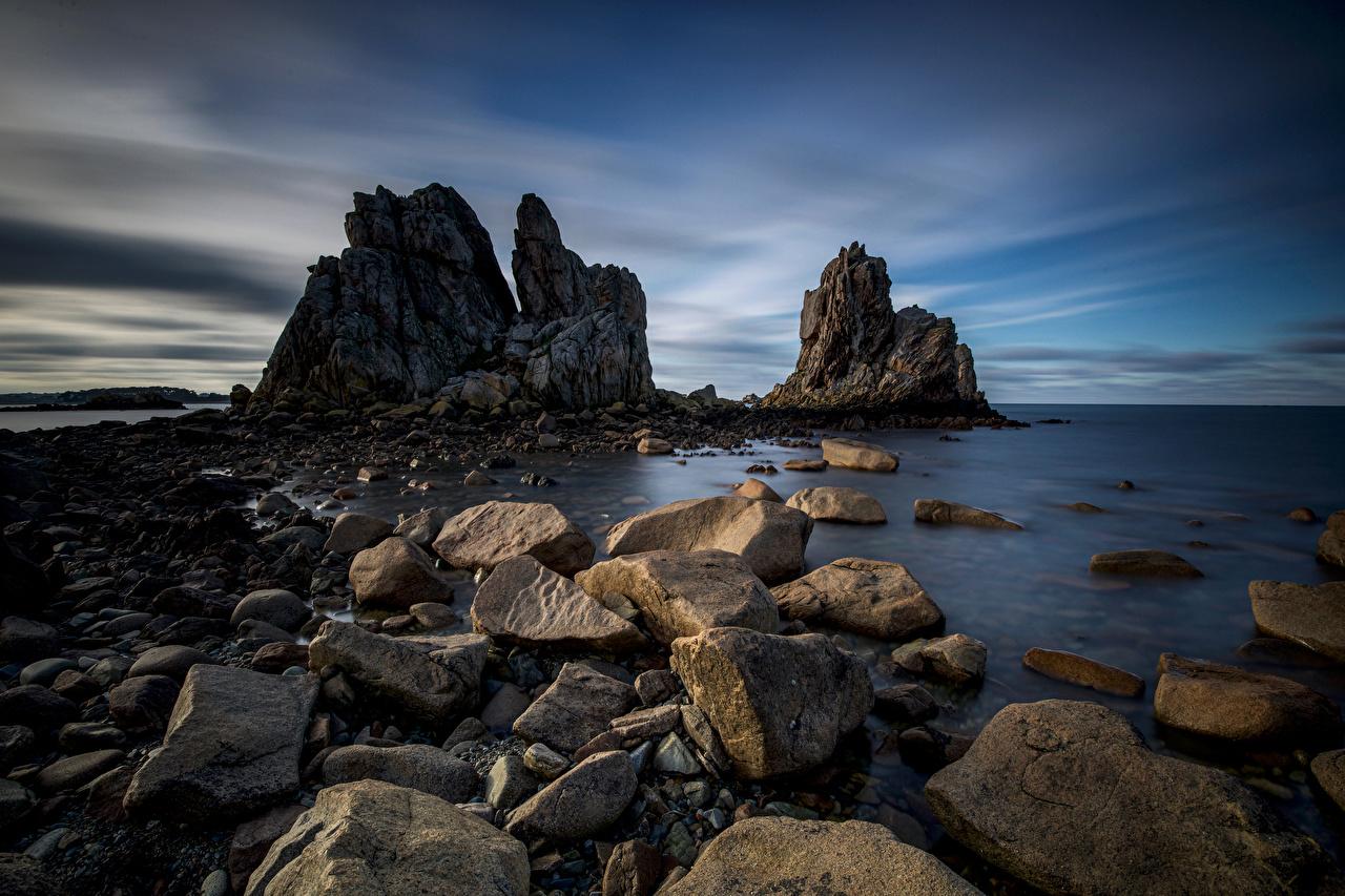 Wallpaper France Bretagne Cliff Nature Coast Stones Crag Rock stone