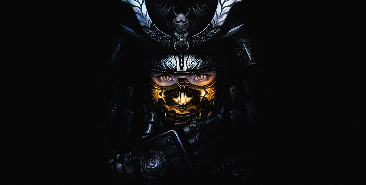 Wallpaper Armor Samurai Warriors By W K Fantasy Staring Black