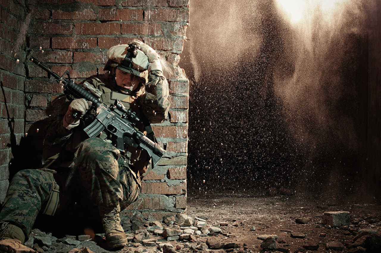 Image USA Soldiers Assault rifle Marine Corps Forces, Special