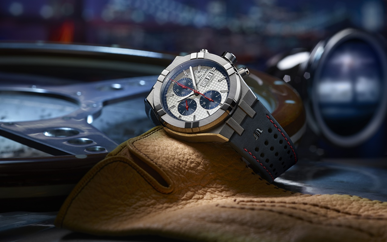 Desktop Hintergrundbilder Swiss Luxury Watches, Maurice Lacroix AIKON Automatic Chronograph Armbanduhr Uhr