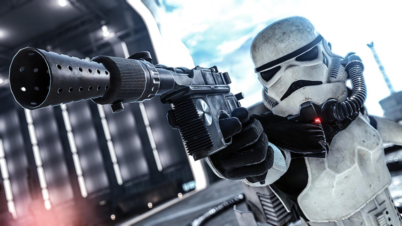 Pictures Star Wars Battlefront 2015 Clone trooper pistol vdeo game Pistols Games