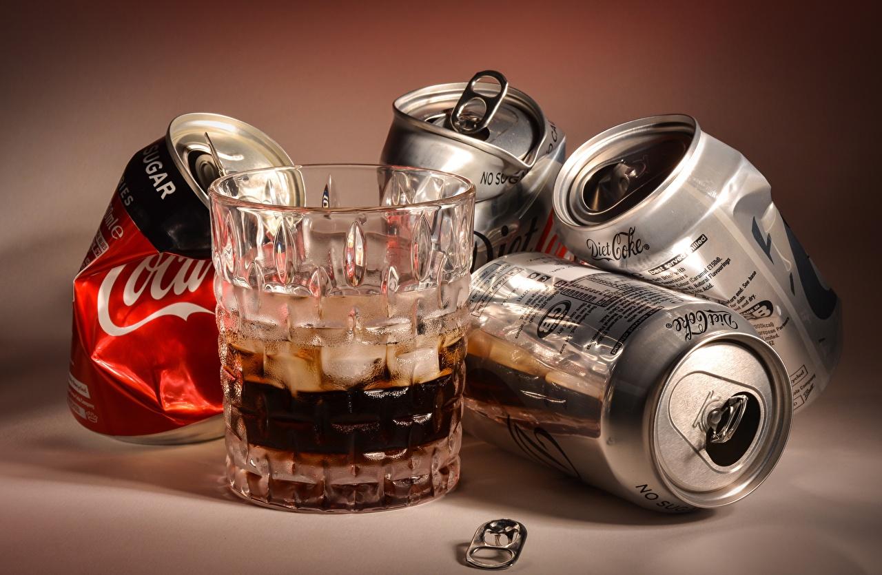 、コカ・コーラ、飲料、tin can、コップ、食べ物、食品、