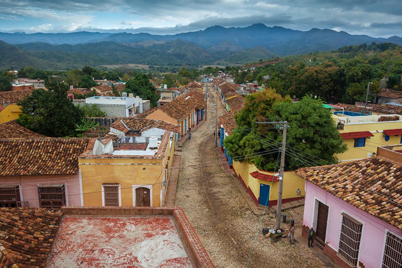 Desktop Wallpapers Cuba Trinidad Sancti Spiritus Street Cities