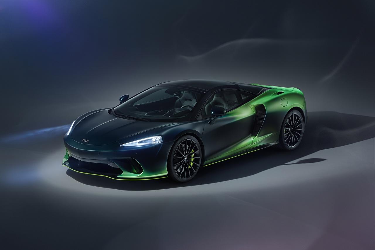 Images McLaren MSO, 2020, GT, Verdant Theme Green Cars Metallic Headlights auto automobile
