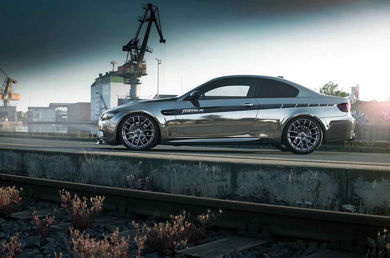 Images BMW Fostla M3 Coupe E92 Side auto Metallic Cars automobile