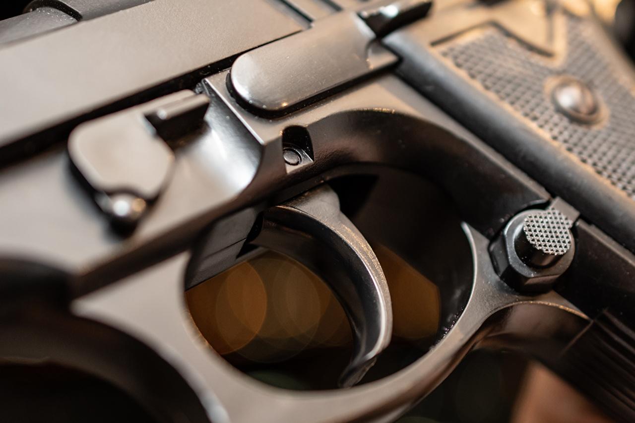 Fotos von Pistolen Makrofotografie hautnah Militär Pistole Makro Nahaufnahme Großansicht Heer