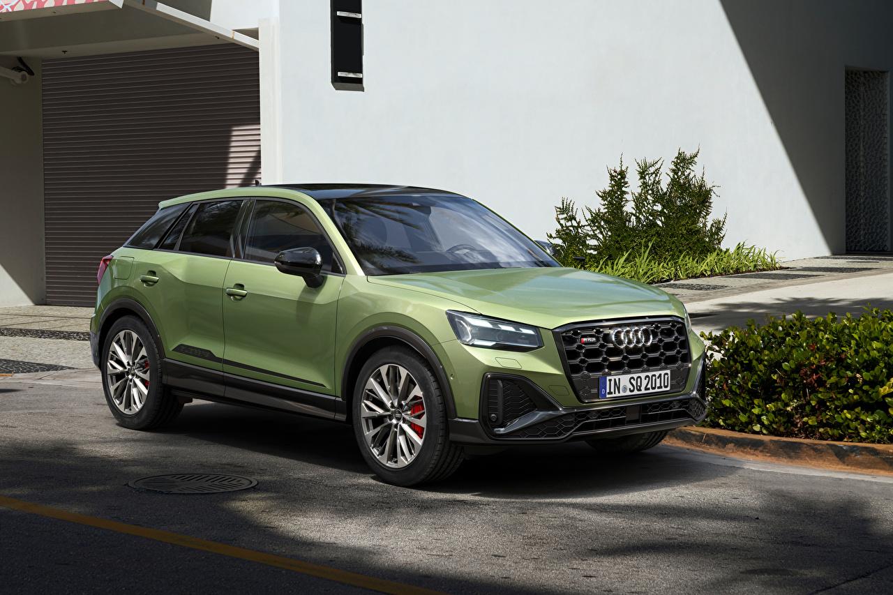 Picture Audi CUV SQ2, 2020 Green Cars Metallic Crossover auto automobile