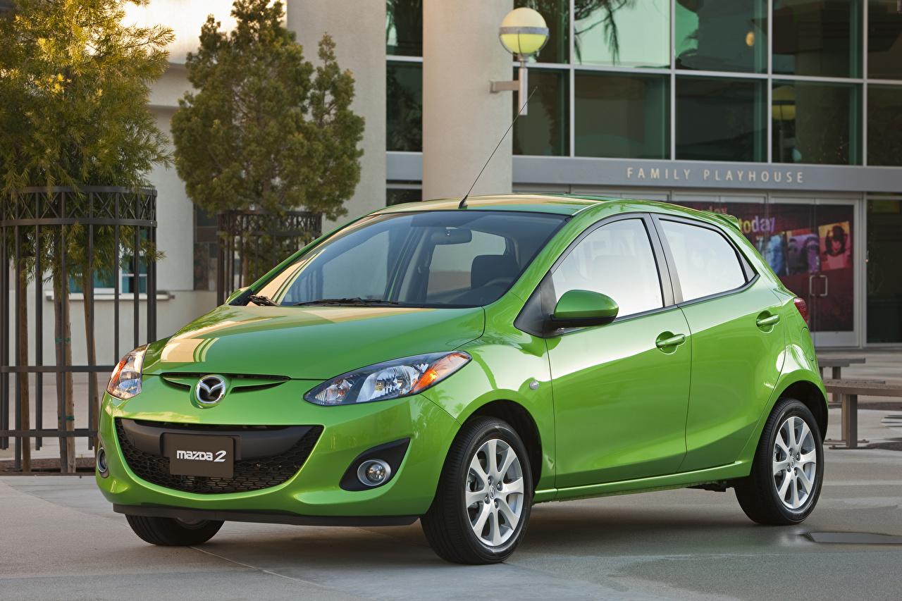 Pictures Mazda Green Metallic automobile Cars auto