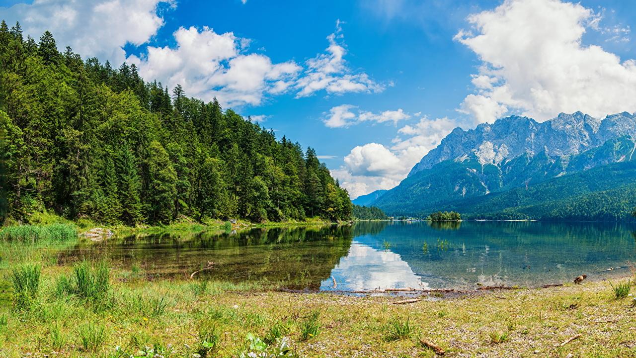 Photo Alps Switzerland Wasserauen Nature Mountains Lake Forests