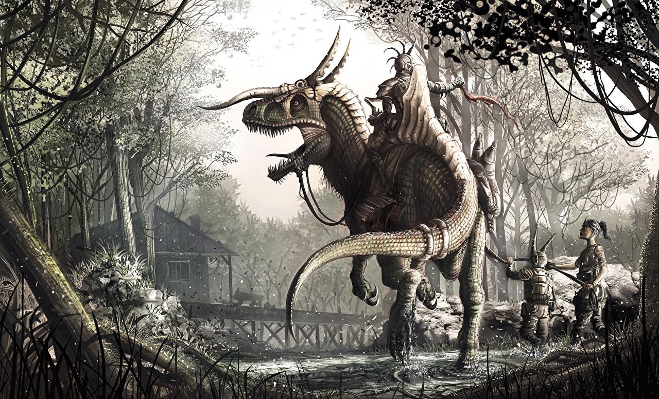 Image Dinosaurs warrior Fantasy Warriors