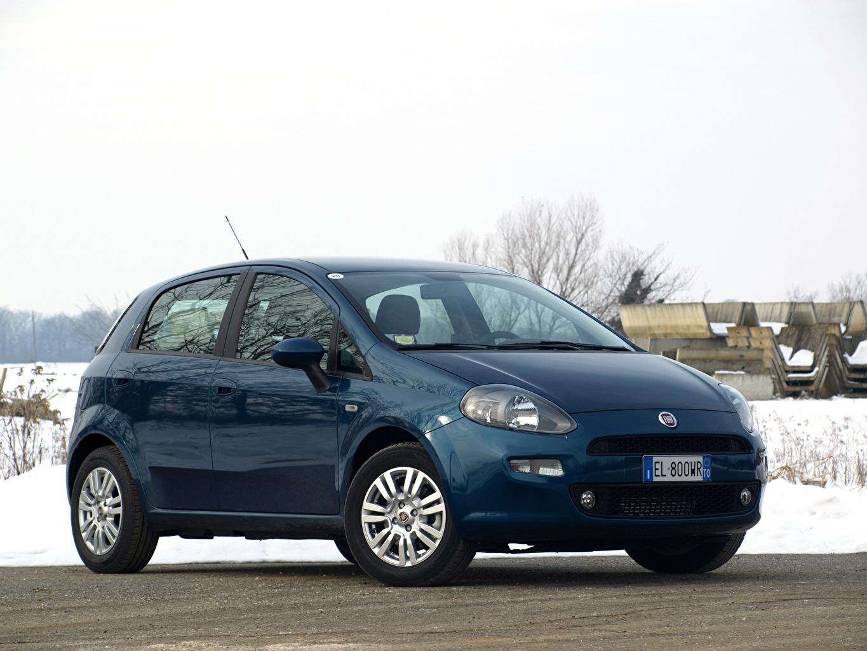 Bilder Fiat 2012-18 Punto 5-door Blau Autos Metallisch