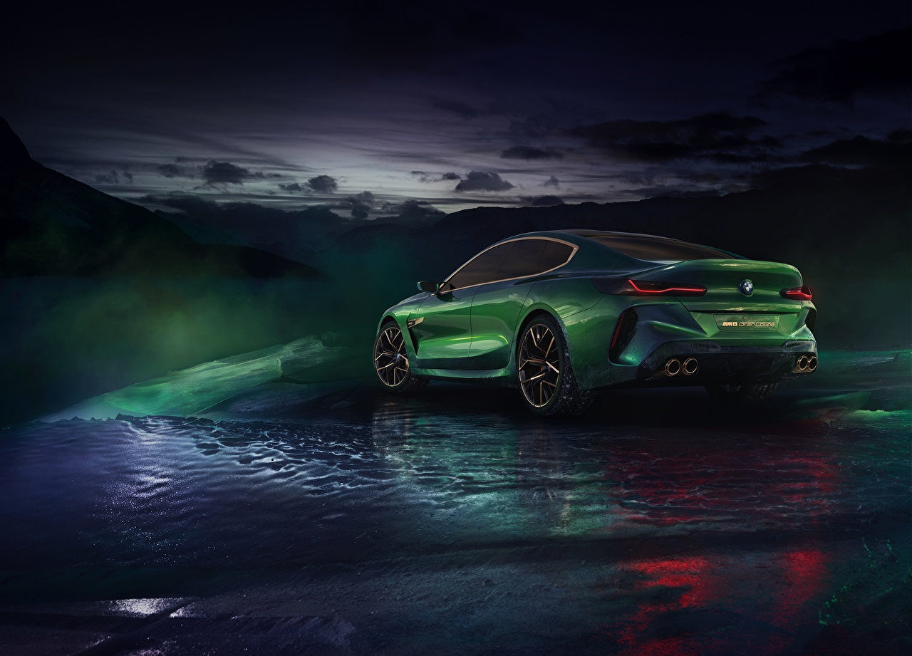 Pictures BMW M8 Gran Coupe Concept Green Cars auto automobile