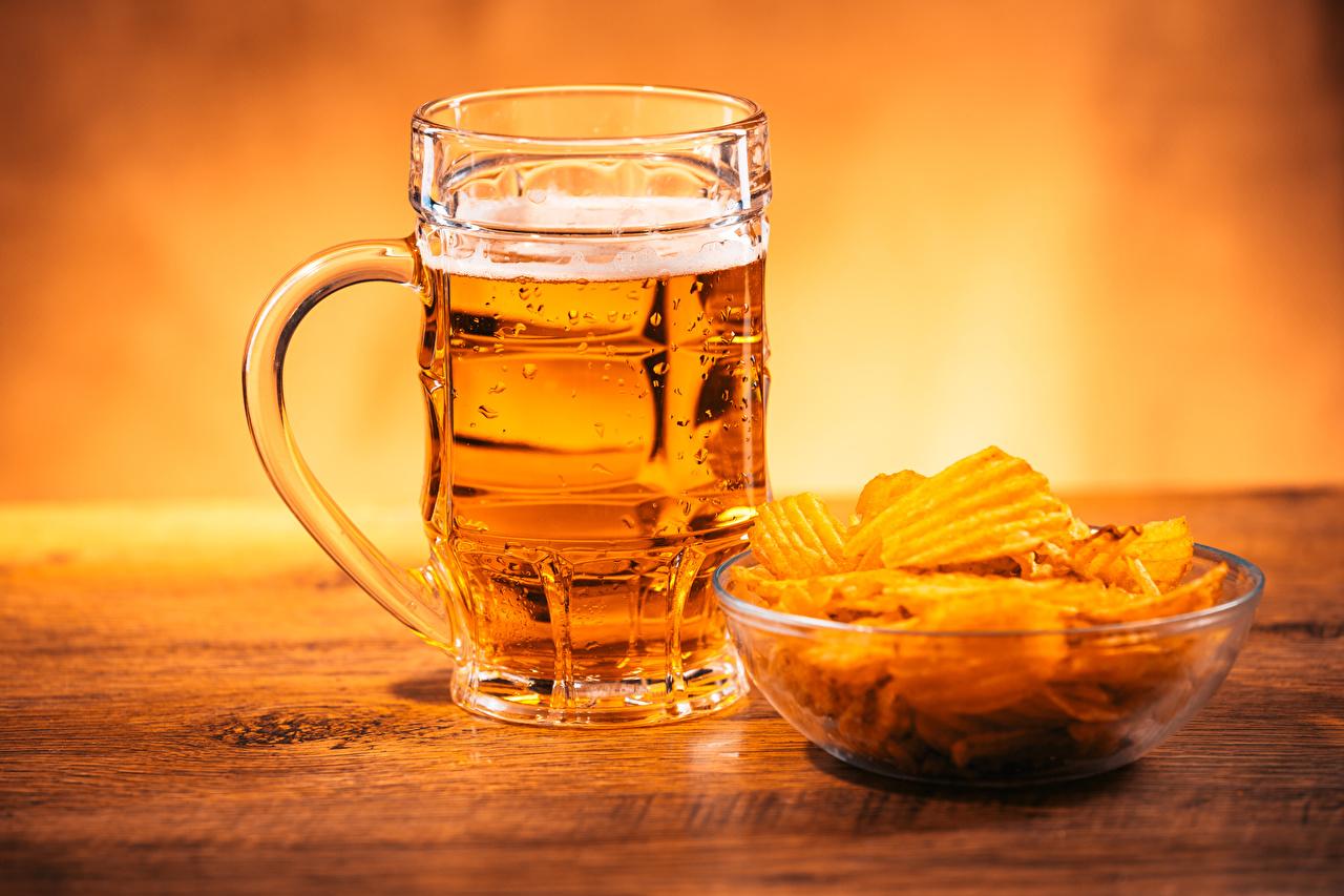 Wallpapers Beer crisps Mug Food Chips