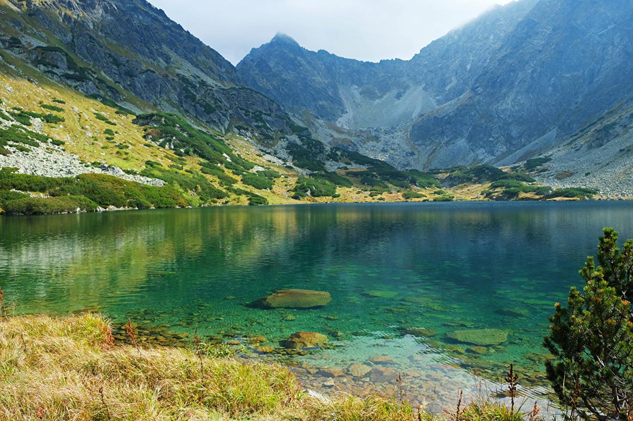 Foto Slowakei High Tatras Natur Gebirge See Berg