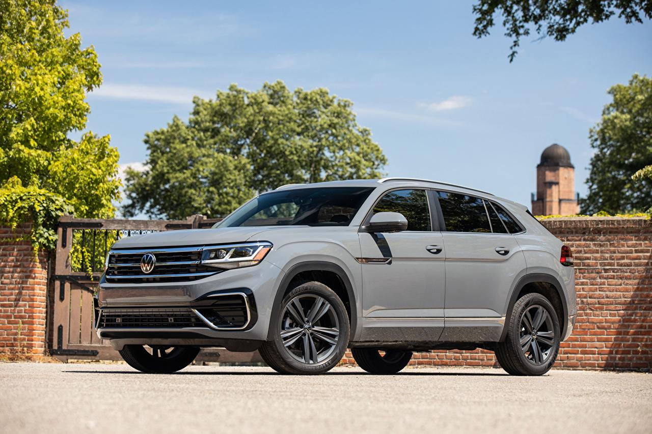 Photos Volkswagen CUV Atlas Cross Sport SE R-Line, 2020 Grey auto Metallic Crossover gray Cars automobile