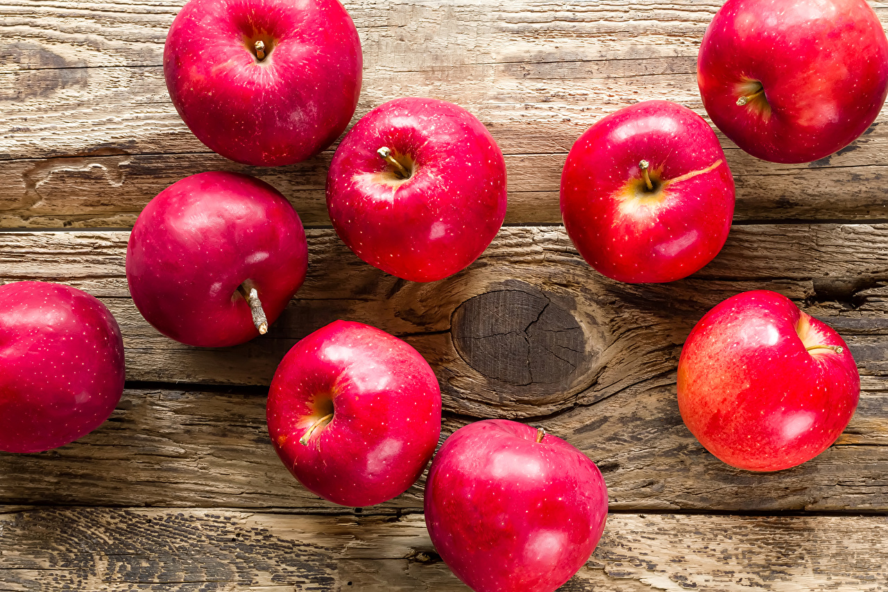Image Red Apples Food Closeup