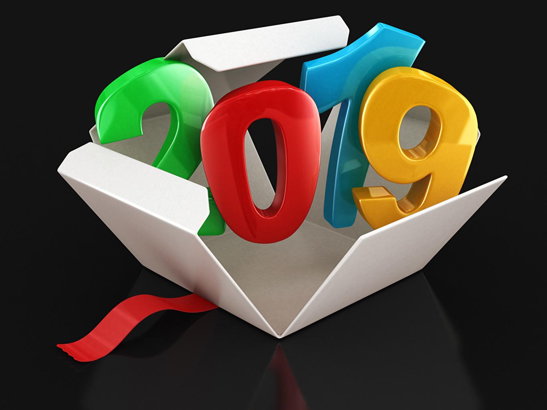 Image 2019 Christmas Black background New year