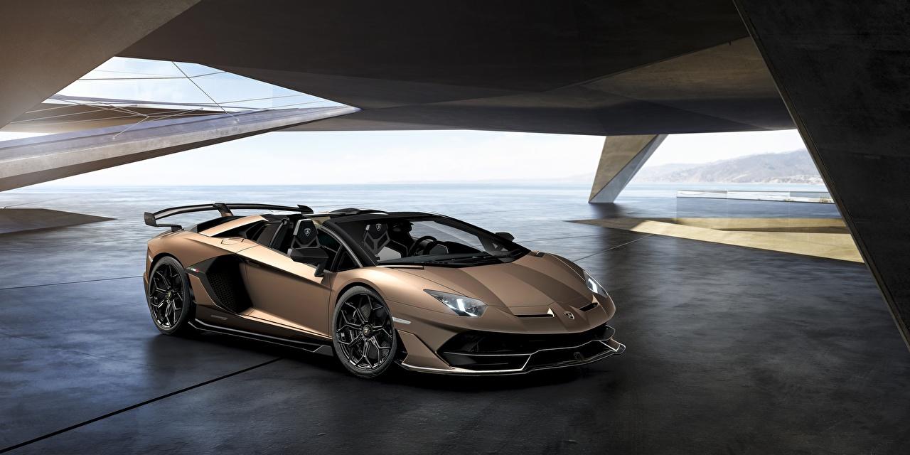 Wallpapers Lamborghini Aventador SVJ Roadster Cars auto automobile